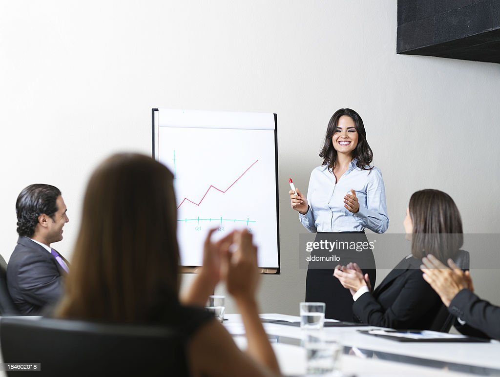 Successful business presentation : Stock Photo