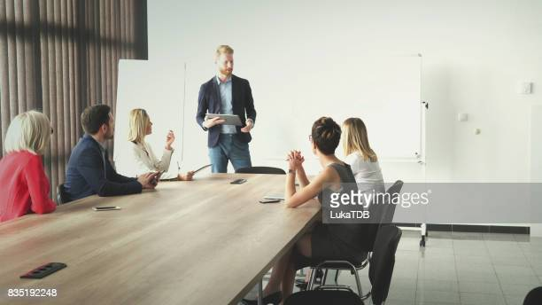 Successful business team have meeting