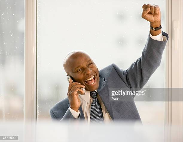 Successful Businessman Making Phone Call