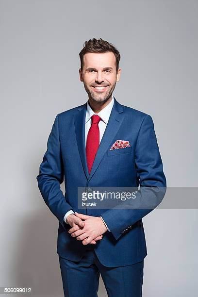 Successful businessman wearing elegant suit