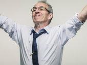 Successful Elderly business man