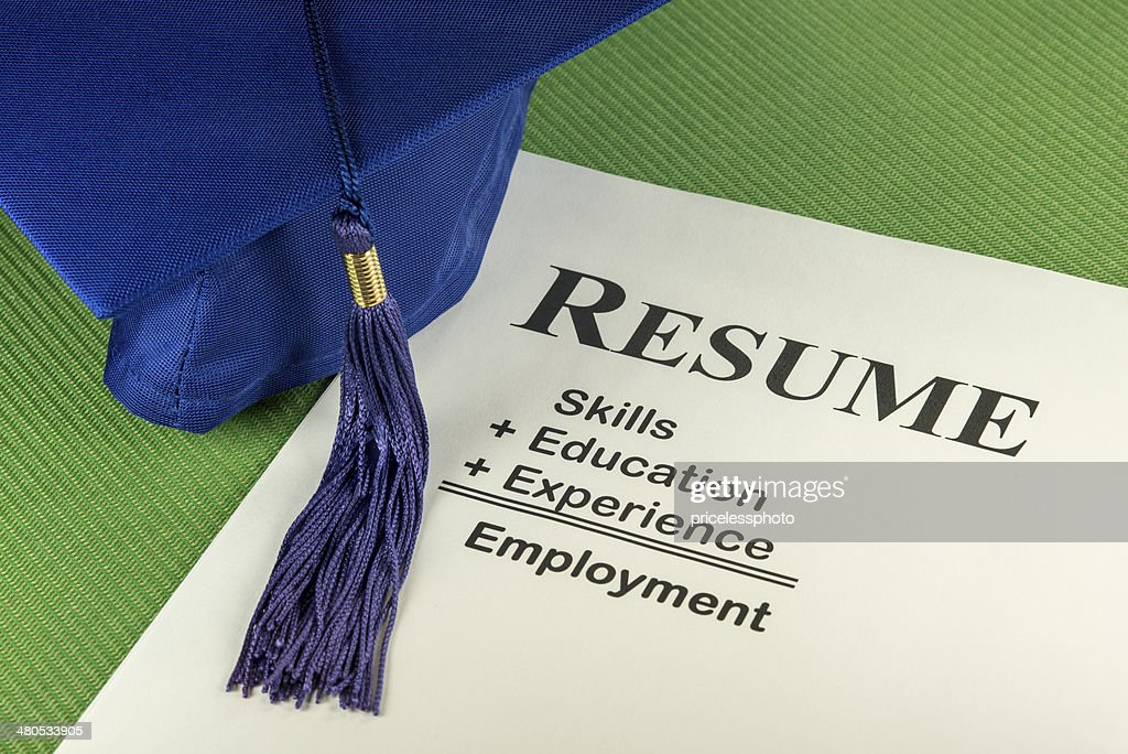 Successful Employment Concept With Desired Resume Formula : Stock Photo