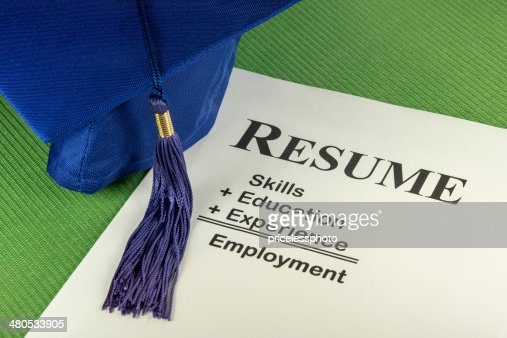 Successful Employment Concept With Desired Resume Formula : Stockfoto