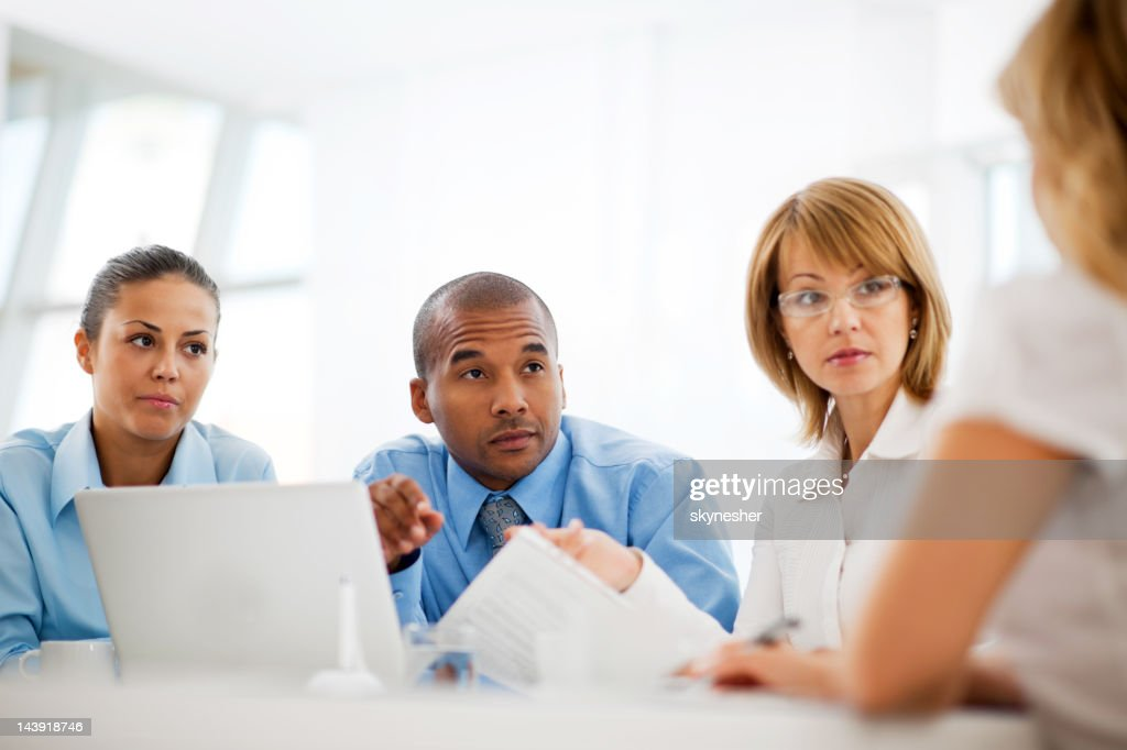 Successful group of businesspeople working together. : Stock Photo