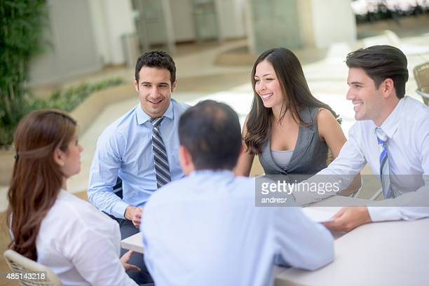 Successful group of people in a business meeting