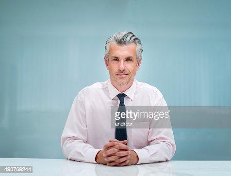 Successful senior business man