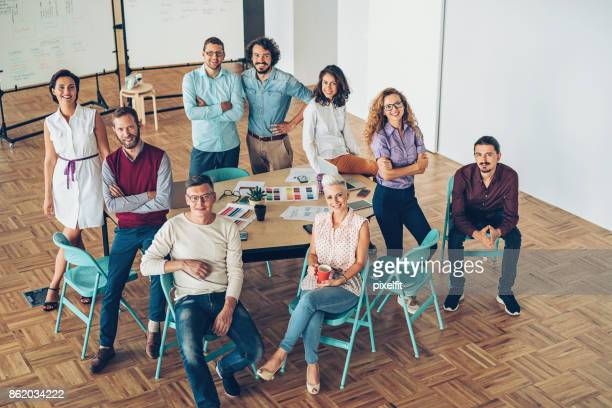 Successful team of professionals in the office