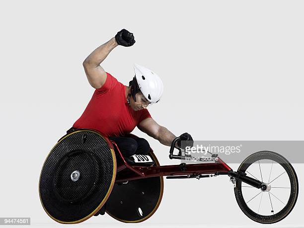 Successful wheelchair athlete