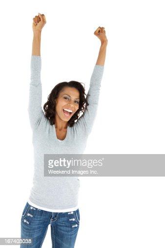 成功した女性 : ストックフォト