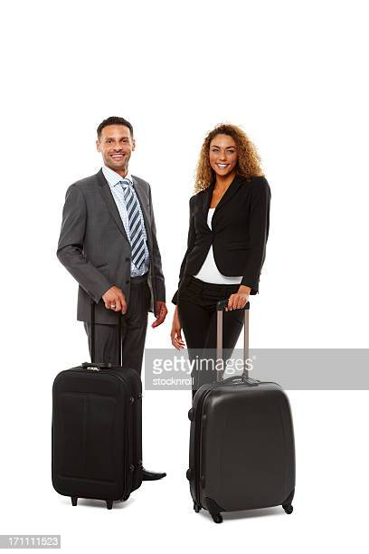 Successful young business people travelling