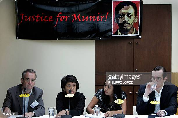 Suciwati Munir the wife of Indonesia's late leading rights activist Munir addresses a press conference at the Foreign Correspondent Club of Hong Kong...