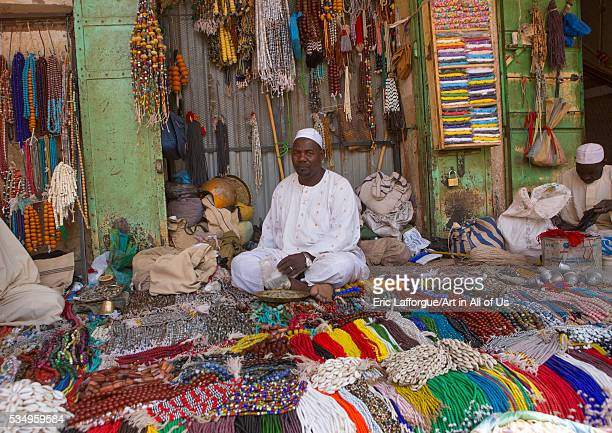 Sudan Khartoum State Omdurman beads and necklaces at bazaar
