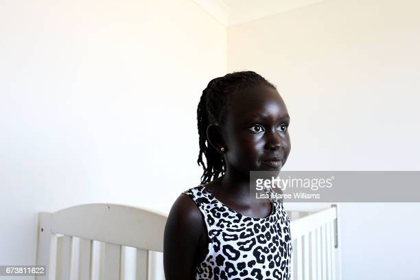 Sudanese Adut Thon at a family members home on January 30 2017 in Tamworth Australia Tamworth is a large regional city in the New England region of...