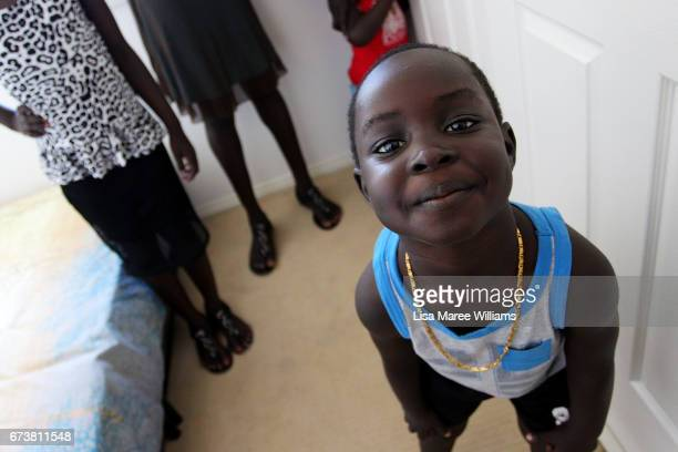 Sudanese boy Tony Atuich at a family home on January 30 2017 in Tamworth Australia Tamworth is a large regional city in the New England region of...