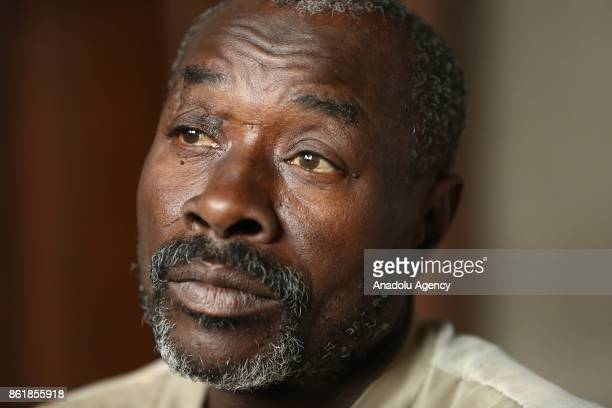 Sudanese Mirsal Ali is seen at oneroomed flat in Eastern Ghouta district of Damascus Syria on September 20 2017 Mirsal Ali hopes to return his...