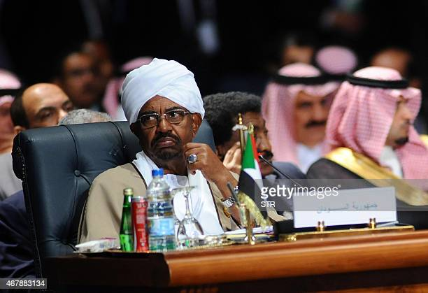 Sudanese President Omar alBashir attends the Arab League summit in Egypt's Red Sea resort of Sharm ElSheikh on March 28 2015 AFP PHOTO/ STR