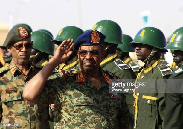 Sudanese President Omar alBashir attends the joint Sudan and Saudi Arabia air force drill at the Marwa air base which is 350 km south of Khartoum...