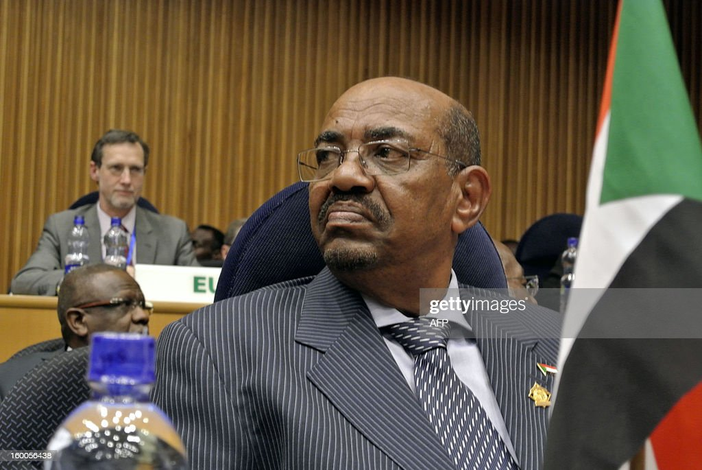 Sudanese President Omar al-Bashir waits on January 25, 2013 in Addis Ababa for the start a high-level security meeting at the African Union over the situation between Sudan and South Sudan. Al-Bashir and his Southern counterpart Salva Kiir met at the AU-mediated talks in the latest push to implement stalled economic, oil and security deals signed in September 2012 after bloody border conflict broke out last year.
