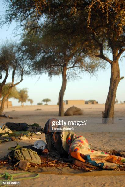 Sudanese rebels with the NRF wake up at dawn in Bahai Chad a few kilometers from the Darfur border where dozens of rebels come to relax repair their...