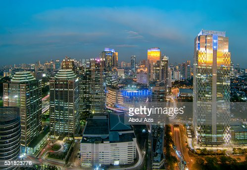 Sudirman Central Business District Jakarta Stock Photo ...