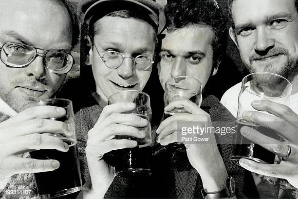 Suds panel Four experts put lowalcohol and two regular beers to a blind taste test The tasters are from left Jim Duffy Chris Johnston Frank Varela...