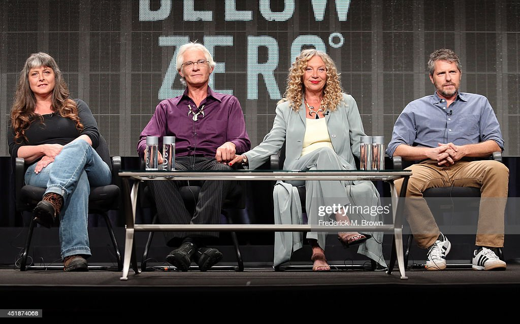 Sue Aikens, Andy Bassich, Kate Rorke and executive producer Travis Shakespeare speak onstage at the 'Life Below Zero' panel during the National Geographic Channels portion of the 2014 Summer Television Critics Association at The Beverly Hilton Hotel on July 8, 2014 in Beverly Hills, California.