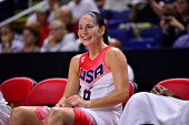 Sue Bird of the USA Basketball Women's National Team during the game against the Canadian Basketball Women's National Team on September 15 2014 in...