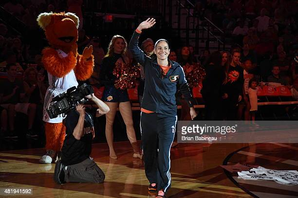 Sue Bird of the Western Conference AllStars is introduced during the Boost Mobile WNBA AllStar 2015 Game at the Mohegan Sun Arena on July 25 2015 in...