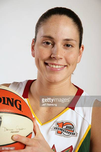 Sue Bird poses for a portrait during Seattle Storm Media Day two on May 8 2006 in Seattle Washington NOTE TO USER User Expressly acknowledges and...