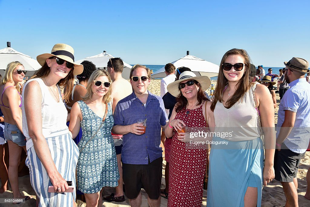 Sue Bohlen, Kelly Howard, Josh Gladstone, Kathleen Gladstone, and Sandra Parker attend the NYMag + San Pellegrino Beach Party at Gurney's Montauk Resort and Seawater Spa on June 25, 2016 in Montauk, New York.