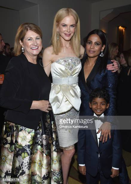 Sue Brierley actress Nicole Kidman and actress Priyanka Bose attend The Weinstein Company's PreOscar Dinner in partnership with Bvlgari and Grey...