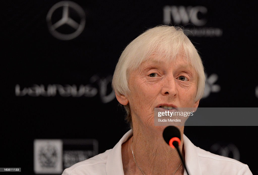 Sue Campbell, Chairman of UK Sport attends the Women In Sport Press Conference at the Windsor Atlantica during the 2013 Laureus World Sports Awards on March 11, 2013 in Rio de Janeiro, Brazil.