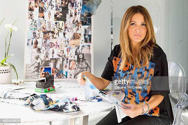 Sue Di Chio Creative Director of Suboo works on the 2015 collection in her studio on July 11 2014 in Sydney Australia in preparation for MercedesBenz...