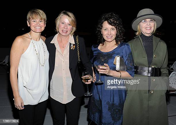 Sue Dunlap Diane English Marianne Maddalena and Diane Keaton attend Planned Parenthood Advocacy Project's Fundraising Gala Politics Sex Cocktails at...