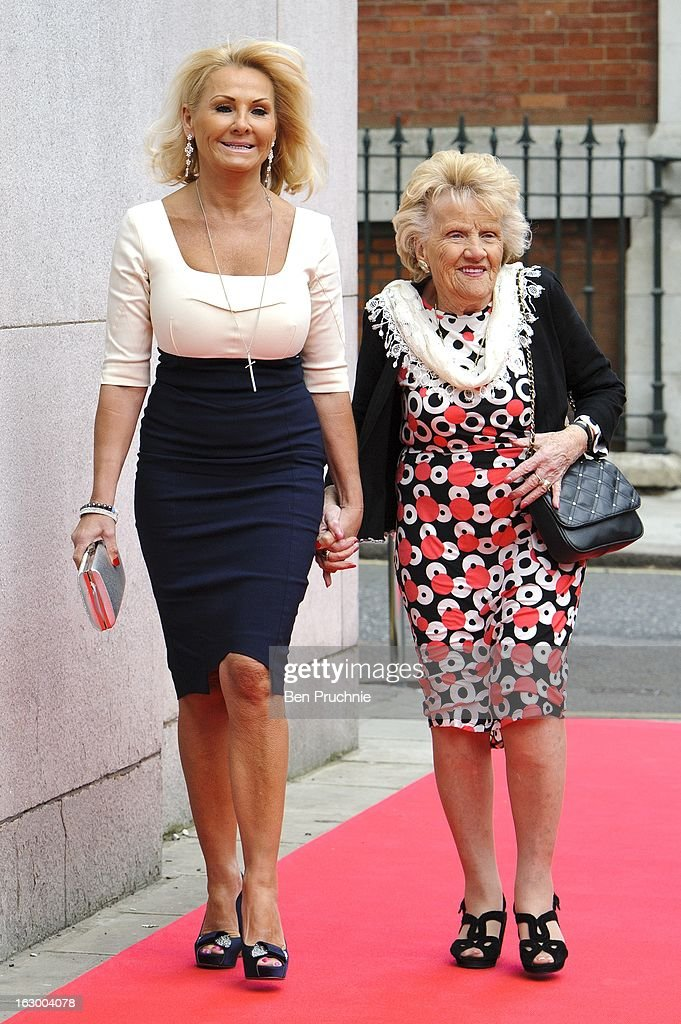 Sue Faiers and Nanny Pat sighted arriving at the Savoy Hotel on March 3, 2013 in London, England.