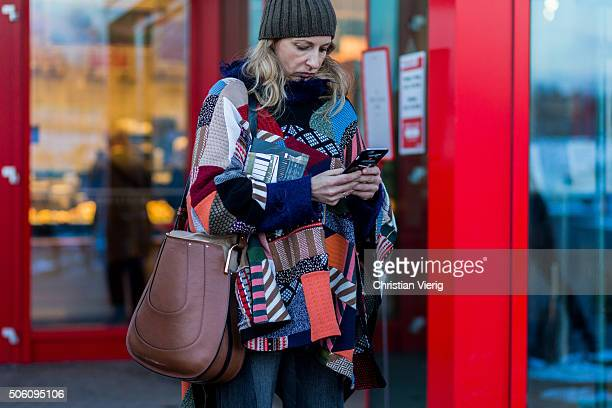 Sue Giers outside Perret Schaad during the MercedesBenz Fashion Week Berlin Autumn/Winter 2016 on January 21 2016 in Berlin Germany