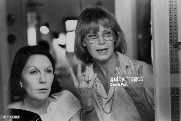 Sue Haney Left Listens As Makeup Artist Frances Kolar Explain Basics As a makeup artist for NBC Kolar has done Henry Kissinger John Belushi Gloria...
