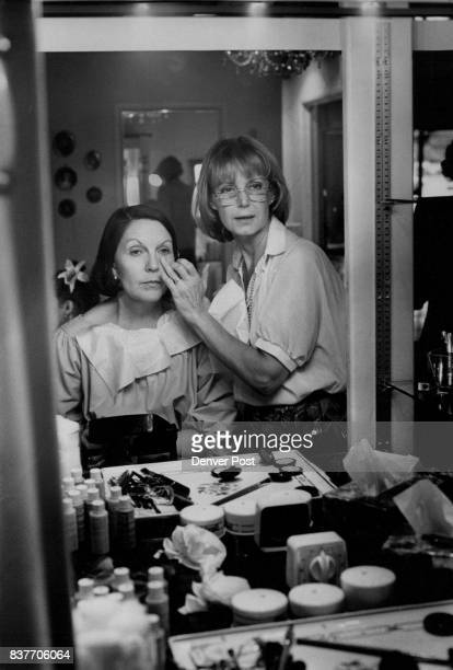 Sue Haney Left Listens As Makeup Artist Frances Kolar Explains Basics As a makeup artist for NBC Kolar has done Henry Kissinger John Belushi Gloria...