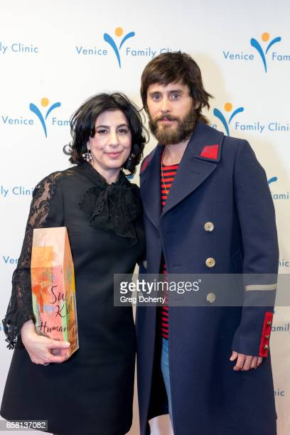 Sue Kroll and Actor Jared Leto at the 35th Annual Silver Circle Gala at The Beverly Hilton Hotel on March 26 2017 in Beverly Hills California