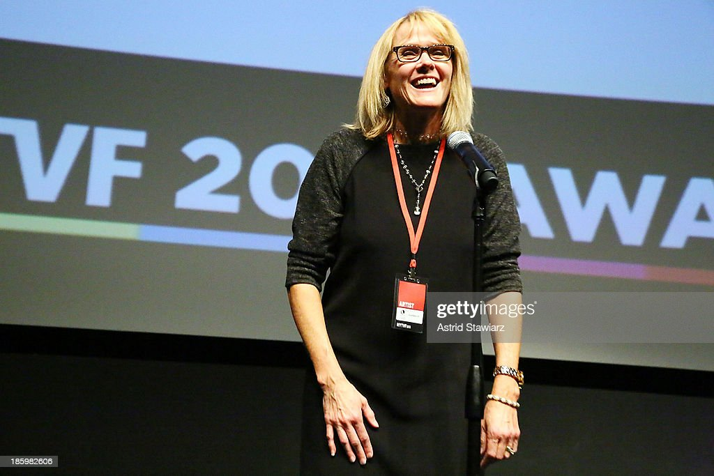 Sue Mowris accepts the Lifetime Unscripted Development Pipeline award for 'LumberJill' during the awards ceremony at the 9th Annual New York Television festival at SVA Theater on October 26, 2013 in New York City.