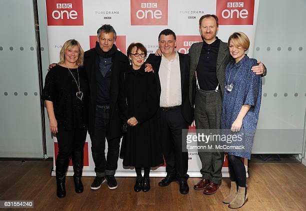 Sue Vertue Rupert Graves Una Stubbs Steven Moffat Mark Gatiss and Sian Brooke attend episode three preview screening of 'Sherlock' at BFI Southbank...