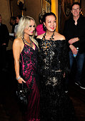 Sue Wong and guest attend her 'Mythos And Goddesses' after party at the Cedars on March 9 2015 in Hollywood California