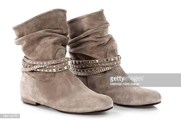 スエードレザーのブーツ