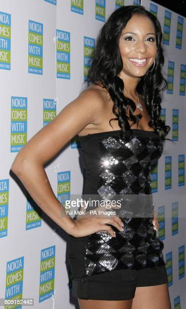 SuElise Nash from MisTeeq arriving for the Nokia Skate Almighty roller disco at Potter's Field by Tower Bridge London