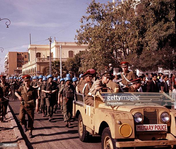 Suez Canel Crisis Egypt A UN troop contingent arrives in Port Said to restore order during the troubles