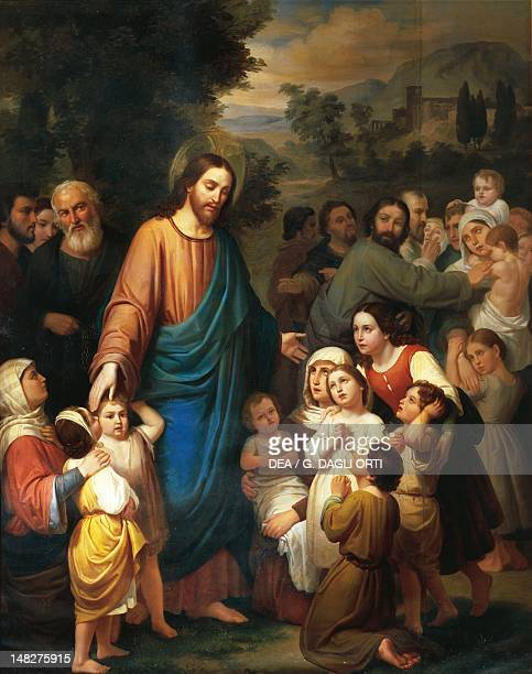 Suffer little children to come unto me by Juan Urruchi Queretaro Museo Regional De Queretaro