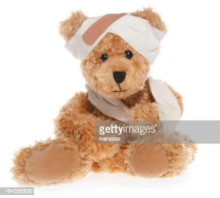 Suffering Injured Sweet Teddy Bear