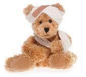 Suffering Injured Sweet Teddy Bear