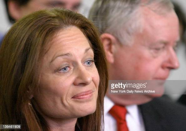 Suffolk County Assistant District Attorney Janet Albertson who prosecuted the case against Daniel Pelosi and District Attorney Thomas Spota outside...