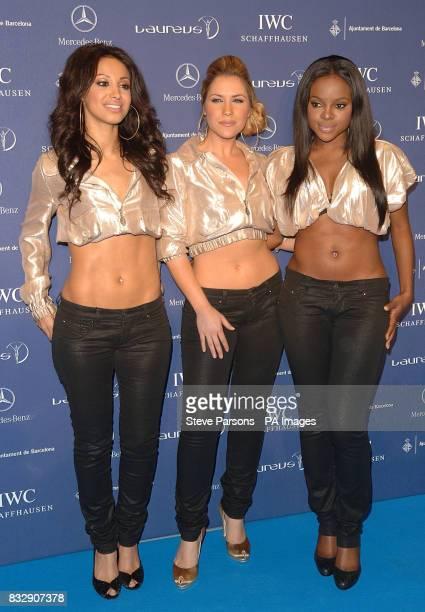 Sugababes arrive for the Laureus World Sports Awards at the Palau Sant Jordi in Barcelona Spain